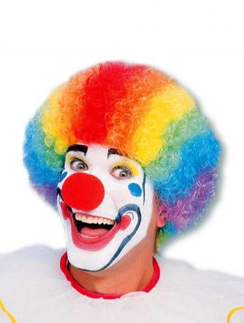 Bunte Clownperücke