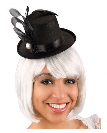 Burlesque Minizylinder schwarz