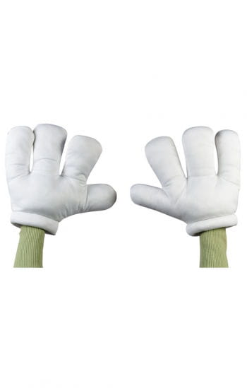Cartoon giant gloves white