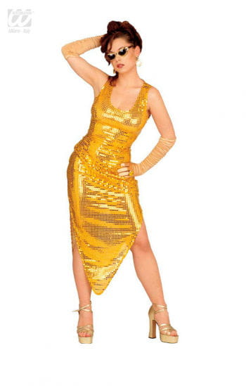 Celebrity sequin dress gold