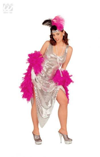 Celebrity Pailletten Kleid silber