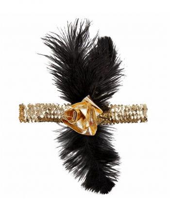 Charleston headdress black gold