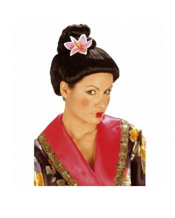 Japanische Perücke mit Blume