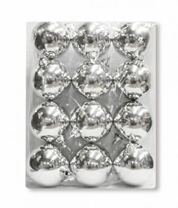 Christbaumkugeln Silber 12 Stück