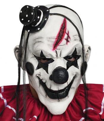 Clown Maske Schwarz Weiß