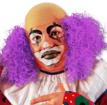 Clown Perücke mit violettem Haar