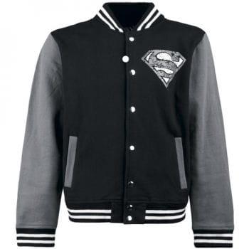 College Jacket black Superman