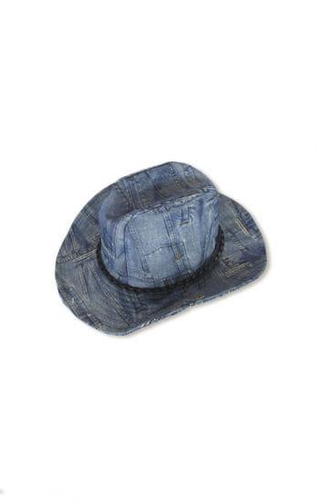 Cowboy Hut Jeanslook blau