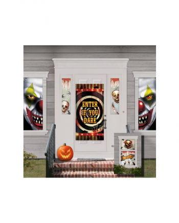 Creepy Clown Tür & Wanddeko
