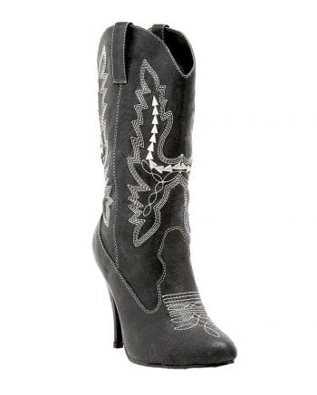 Ladies cowboy boots black