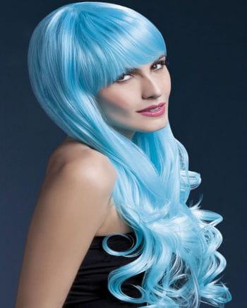 Damen Perücke Emily blau
