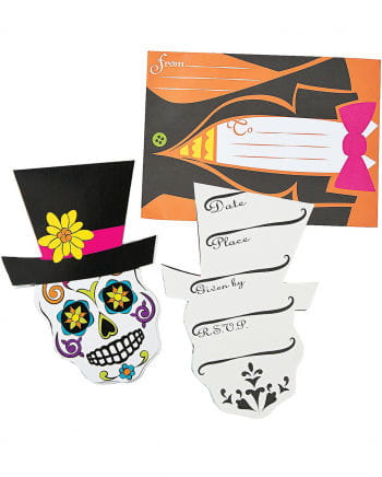 12 Day of the Dead Einladungskarten