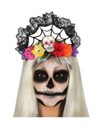 Day of The Dead headband with lace