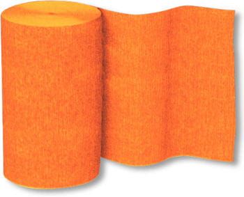 Deko Krepp-Band Orange