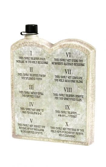 Die 10 Gebote Schnapsflasche