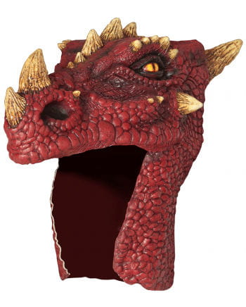 Drachen Helm rot