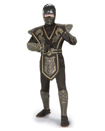 Gold Dragon Warrior Ninja Costume S