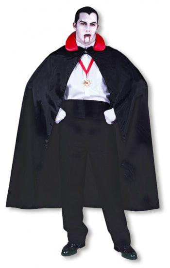Dracula Umhang mit rotem Kragen