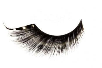 Real Hair Eyelashes Black with Rhinestones