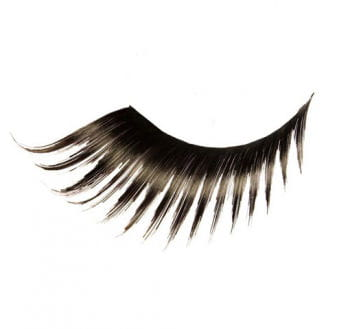 Real Hair Eyelashes Pointed Black