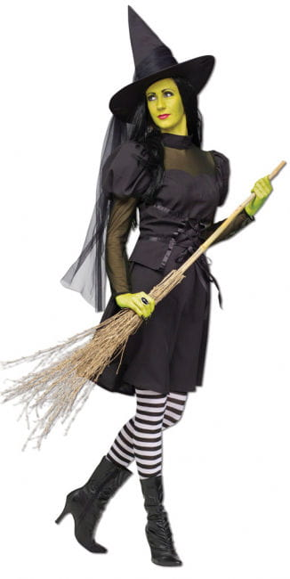 Wicked witch costume with hat