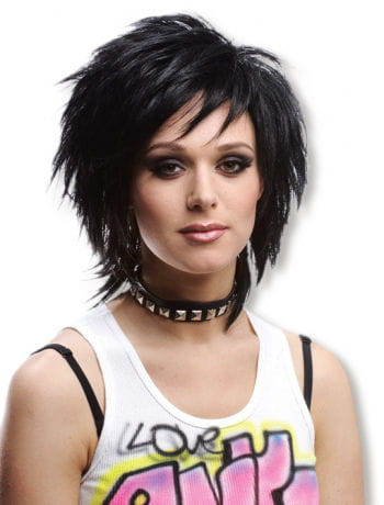 Emo Short Hair Wig Black
