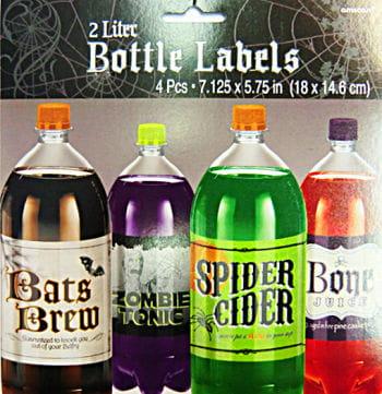 Bottle Labels 4 PCS Set