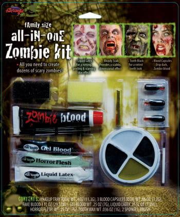 Family Zombie Makeup Set