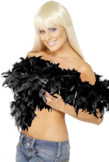 Deluxe black feather boa
