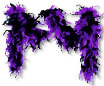 Feather Boa Black Purple