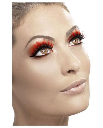 Rhinestone Eyelashes red