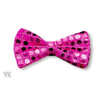Fliege Deluxe pink mit Pailetten