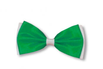 Fliege grün / weiß