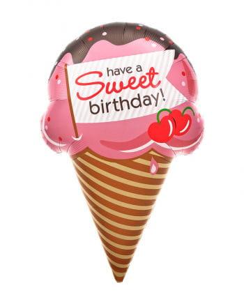 Folienballon Sweet Birthday Eis