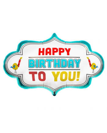 "Foil balloon ""Happy Birthday to You"""