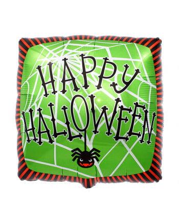 Folienballon Happy Halloween Spinnennetz
