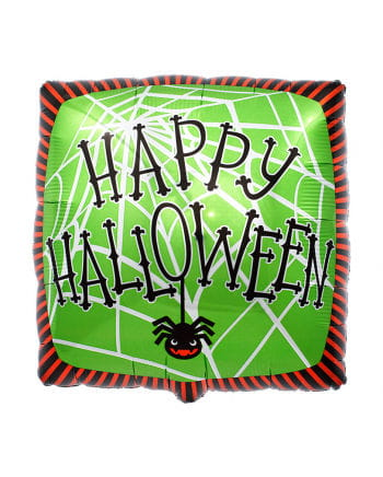 Foil balloon Happy Halloween spider web