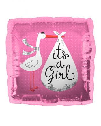 Folienballon Storch - It´s a Girl -