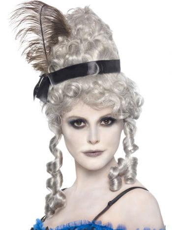Geister Saloon Girl Perücke grau