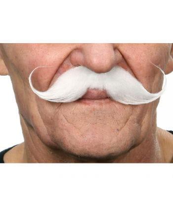 Gezwirbelter mustache white
