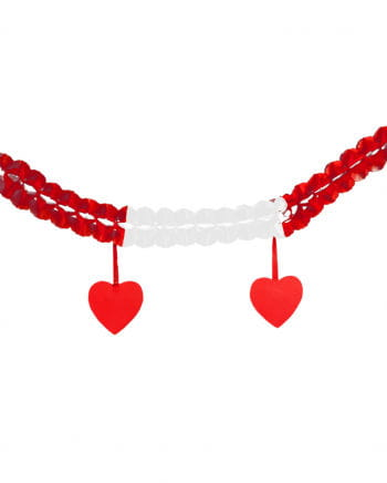 Garland red-white-red with red hearts