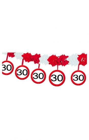 Girlande Verkehrsschild 30