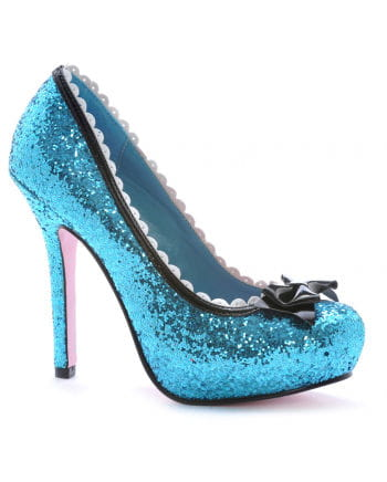 Glitter pumps with bow Blue