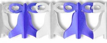 Bells Garland Blue White