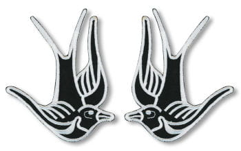 Swallows Patches Set of 2