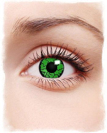 Kontaktlinsen grünes Reptil Motiv