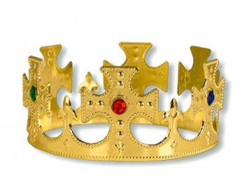 Goldene Krone mit bunten Steinen