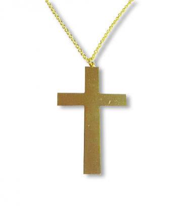 Goldenes Kreuz mit Kette