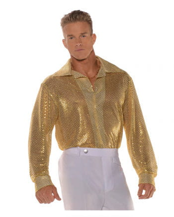 Sequined shirt Gold