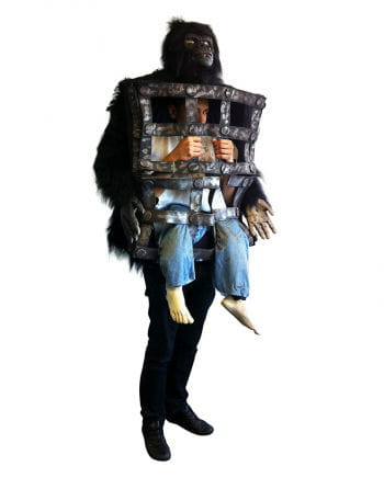 Gorilla Kostüm mit Käfig